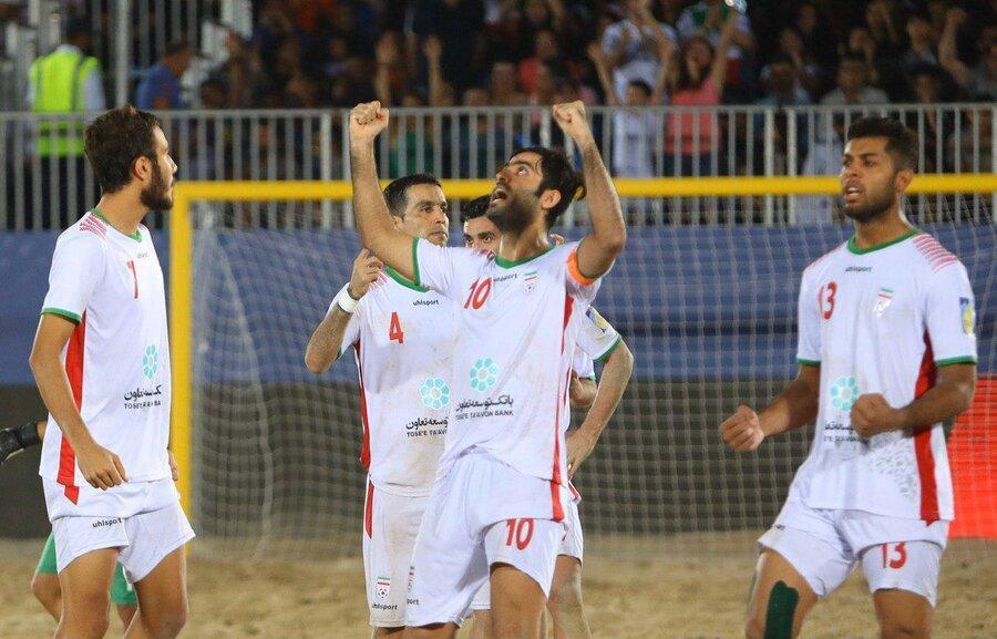 ایران قهرمان مسابقات فوتبال ساحلی جام بین قاره ای شد ، اسپانیا هم مقابل ایران مغلوب شد
