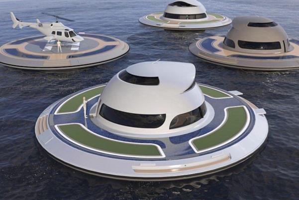 کشتی که با انرژی خورشید، باد و آب حرکت می کند