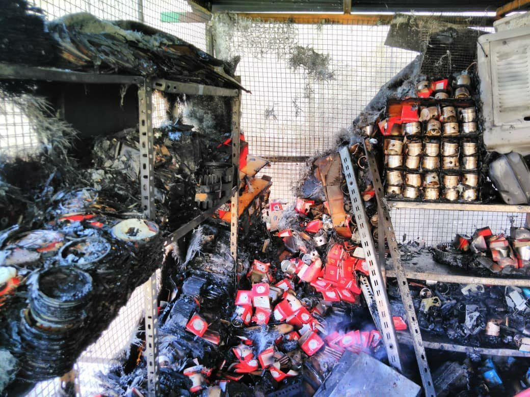 خبرنگاران آتش سوزی و ریزش ساختمان در تهران 5 مصدوم داشت