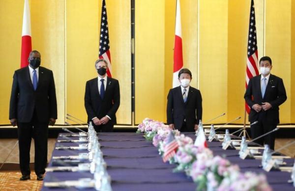 بیانیه مشترک آمریکا و ژاپن درباره چین در نشست دو جانبه