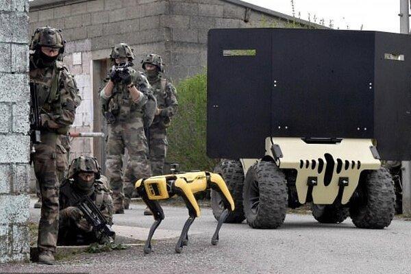 استخدام سگ های روباتیک در ارتش فرانسه